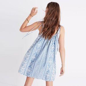 Madewell Havana Cover Up Dress Blue XXS